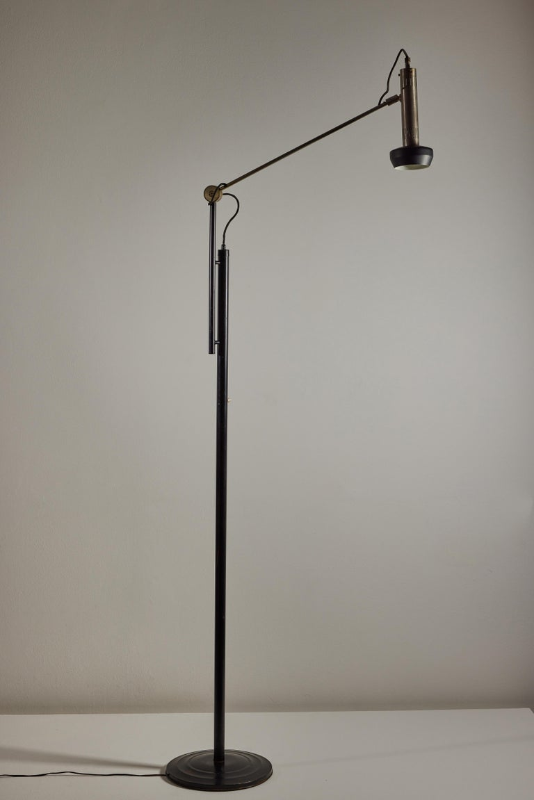Italian Model 387 Floor Lamp by Tito Agnoli for Oluce For Sale