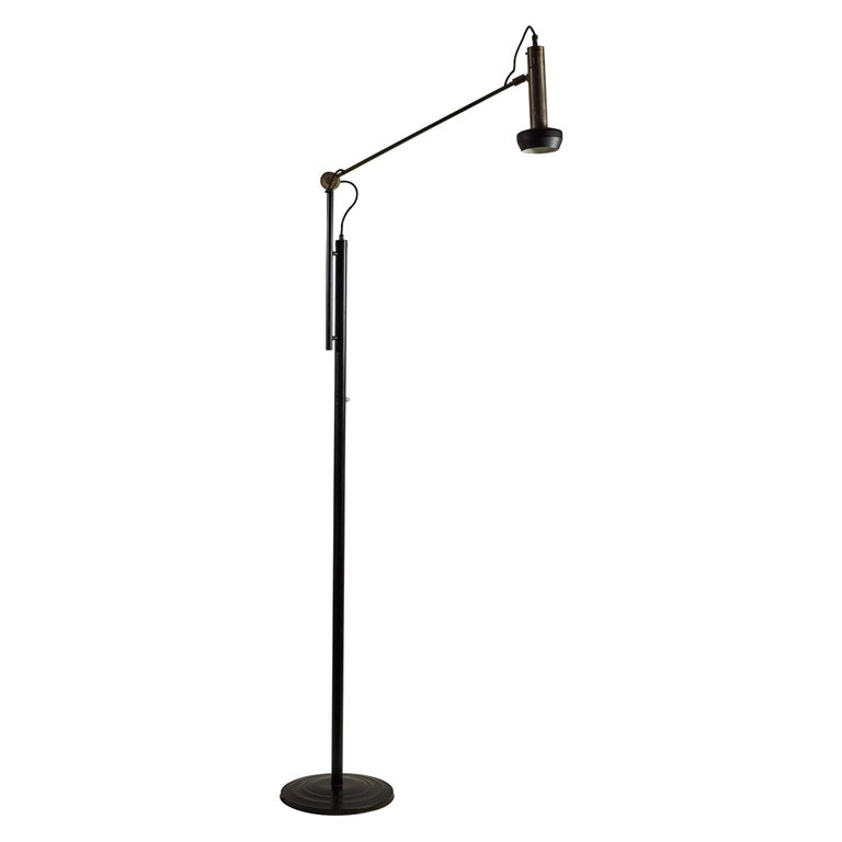 Model 387 Floor Lamp by Tito Agnoli for Oluce For Sale