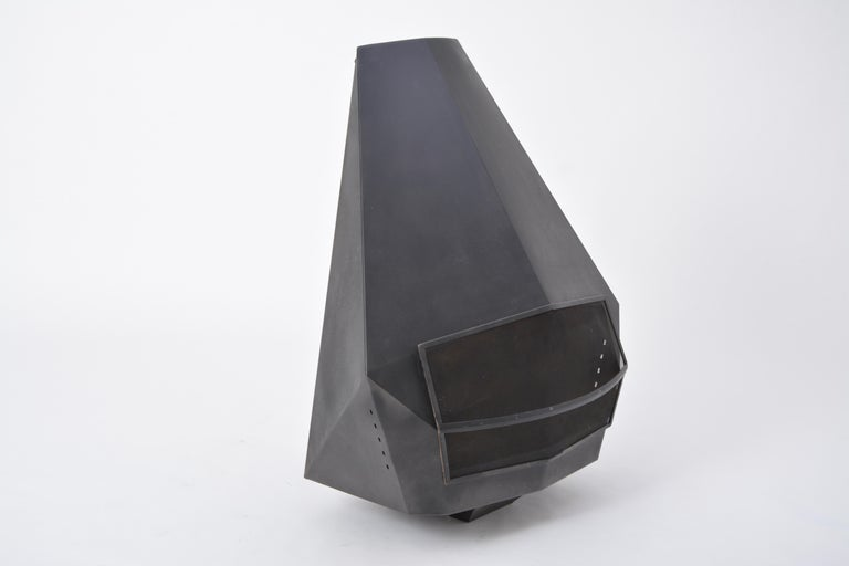 Model 5005 Mid-Century Modern Steel Fireplace from Don-Bar Design, 1970s For Sale 1