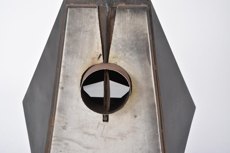 Model 5005 Mid-Century Modern Steel Fireplace from Don-Bar Design, 1970s For Sale 4