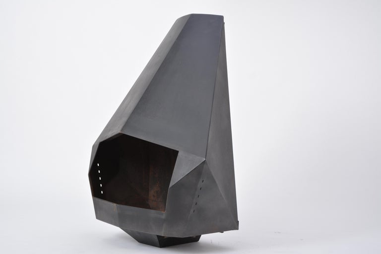 Model 5005 Mid-Century Modern Steel Fireplace from Don-Bar Design, 1970s For Sale 6