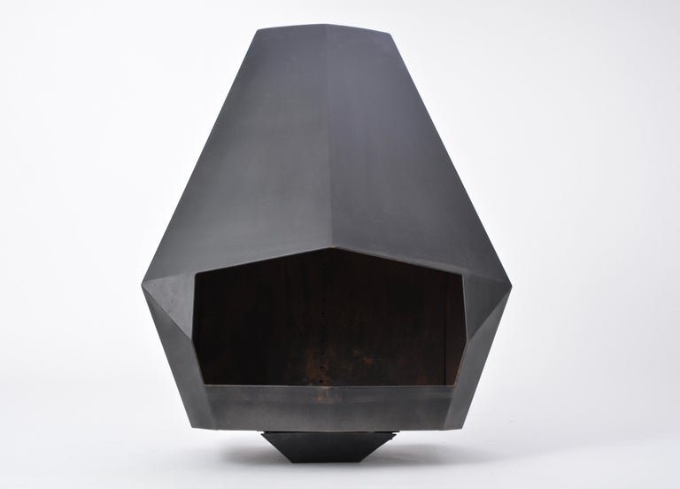 Model 5005 Mid-Century Modern Steel Fireplace from Don-Bar Design, 1970s For Sale 8