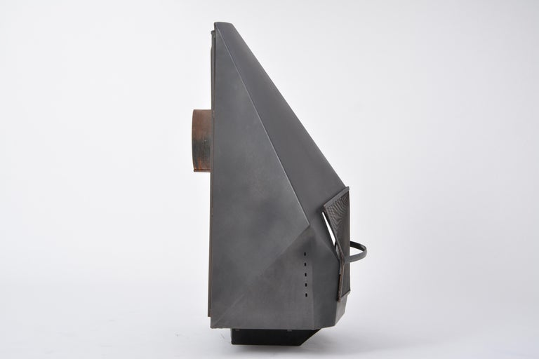 20th Century Model 5005 Mid-Century Modern Steel Fireplace from Don-Bar Design, 1970s For Sale