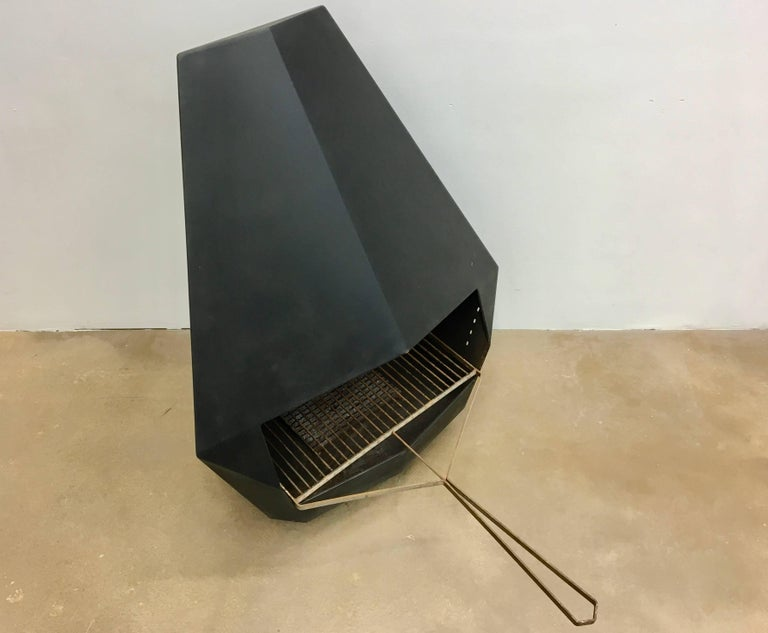 Model 5005 Mid-Century Modern Steel Fireplace from Don-Bar Design, 1970s For Sale 9
