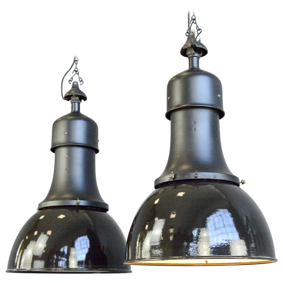 Model 530 Bauhaus Pendant Lights by Kandem, Circa 1920s