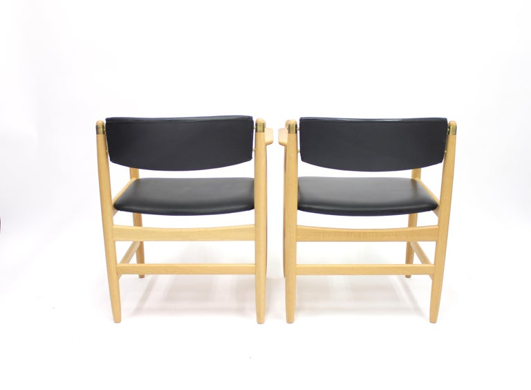 Model 537 Armchairs by Børge Mogensen for Karl Andersson & Söner, 1970s For Sale 4