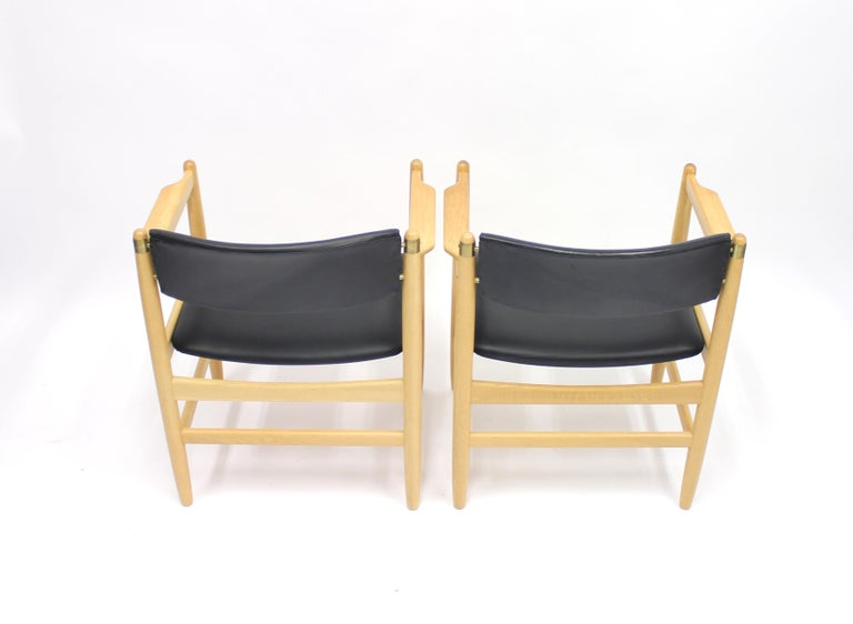 Model 537 Armchairs by Børge Mogensen for Karl Andersson & Söner, 1970s For Sale 5