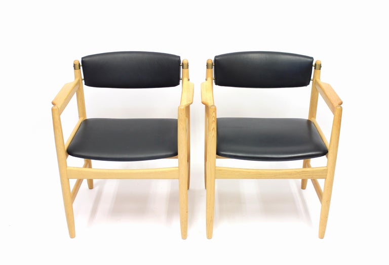 Swedish Model 537 Armchairs by Børge Mogensen for Karl Andersson & Söner, 1970s For Sale
