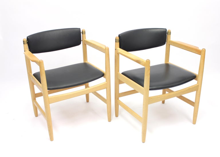 Model 537 Armchairs by Børge Mogensen for Karl Andersson & Söner, 1970s In Good Condition For Sale In Uppsala, SE