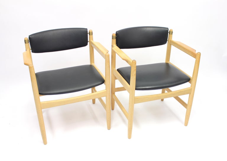 Mid-20th Century Model 537 Armchairs by Børge Mogensen for Karl Andersson & Söner, 1970s For Sale