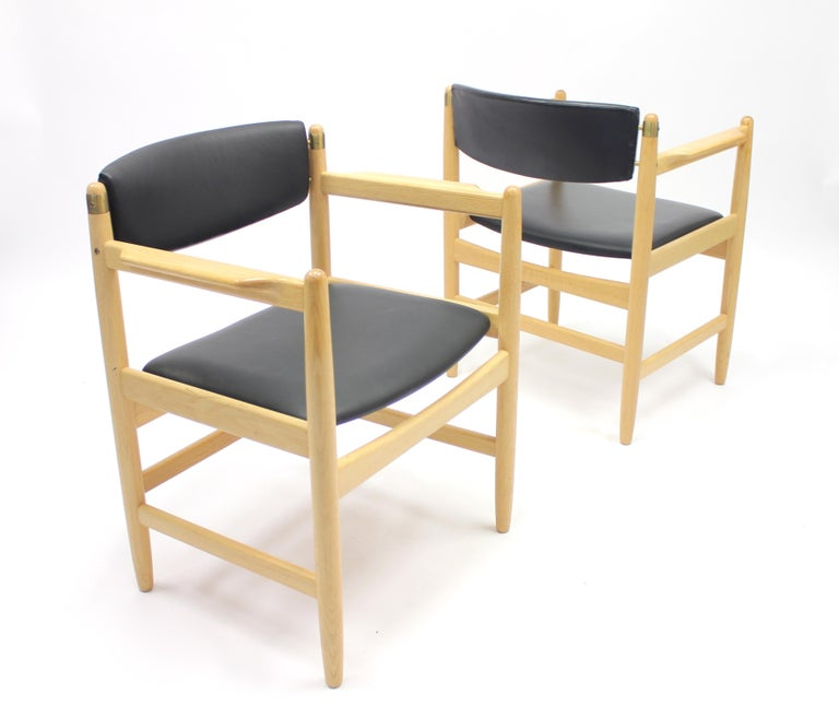 Model 537 Armchairs by Børge Mogensen for Karl Andersson & Söner, 1970s For Sale 1