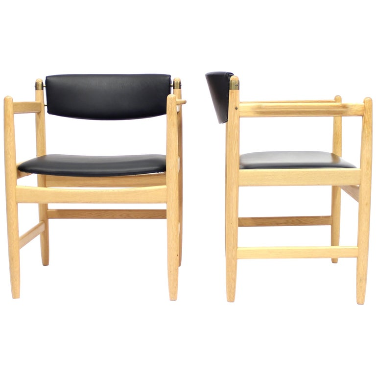 Model 537 Armchairs by Børge Mogensen for Karl Andersson & Söner, 1970s For Sale
