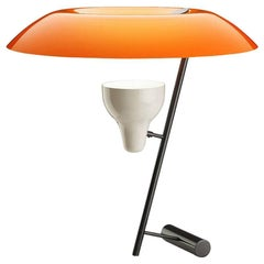 Model 548 Dimmable Table Lamp by Gino Sarfatti in Orange and Burnished Brass