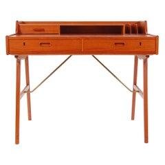Model 56 Teak Desk by Arne Wahl Iversen