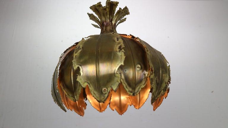 Brass Model 6395 Hanging Lamp by Svend Aage Holm Sørensen for Holm Sørensen & Co, 1960 For Sale