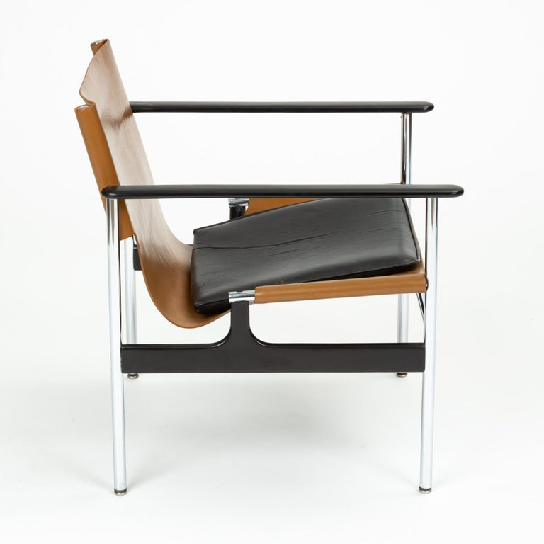 Model 657 Lounge Chair by Charles Pollock for Knoll For Sale 3