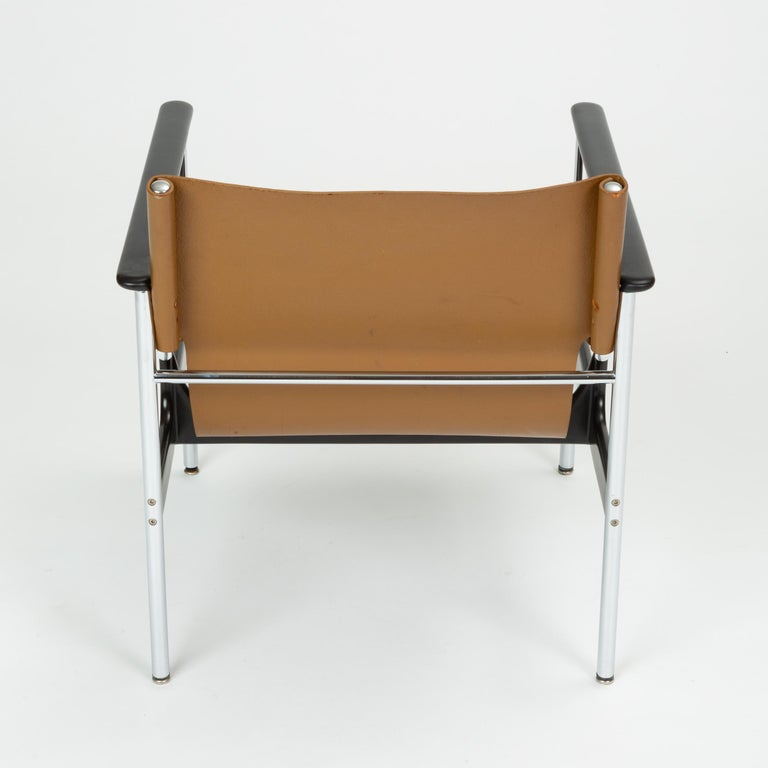 Leather Model 657 Lounge Chair by Charles Pollock for Knoll For Sale