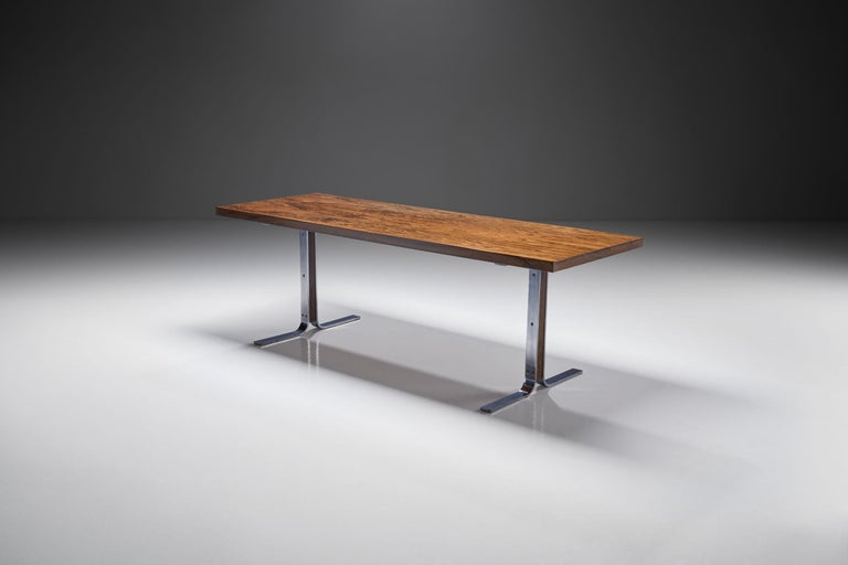 "Mid-20th Century ""Model 66"" Coffee Table by E. W. Bach for Møbelfabrikken Toften, Denmark, 1950s For Sale"