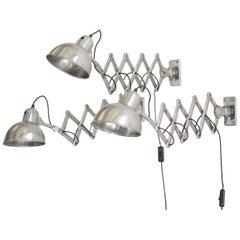 Model 6718 Kaiser Idell Scissor Lamps, circa 1940s