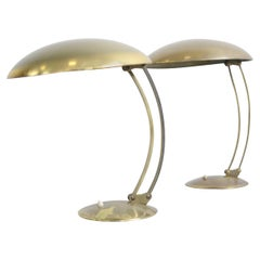 Model 6764 Brass Table Lamps by Kaiser Idell, circa 1940s