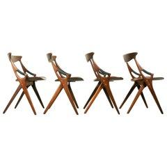 Model 71 Chairs by Arne Hovmand Olsen for Mogens Kold, 1950s, Set of 4