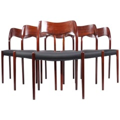 Model 71 Dining Chairs by Moller in Rosewood