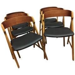 Model 71 Teak Saw Buck Chairs by Henning Kjærnulf for Boltings Stolefabrik, 1960