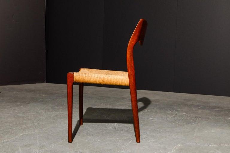 'Model 71' Woven and Teak Side Chair by Niels Otto Møller for J.L. Møller, 1960s For Sale 4
