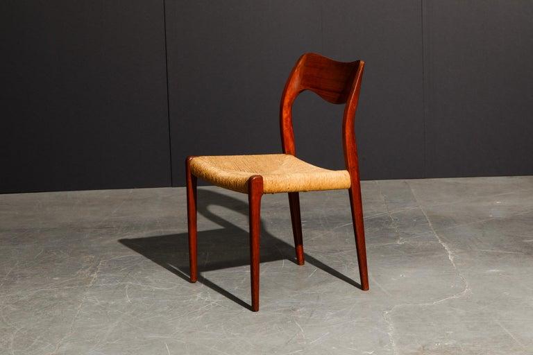 'Model 71' Woven and Teak Side Chair by Niels Otto Møller for J.L. Møller, 1960s For Sale 5