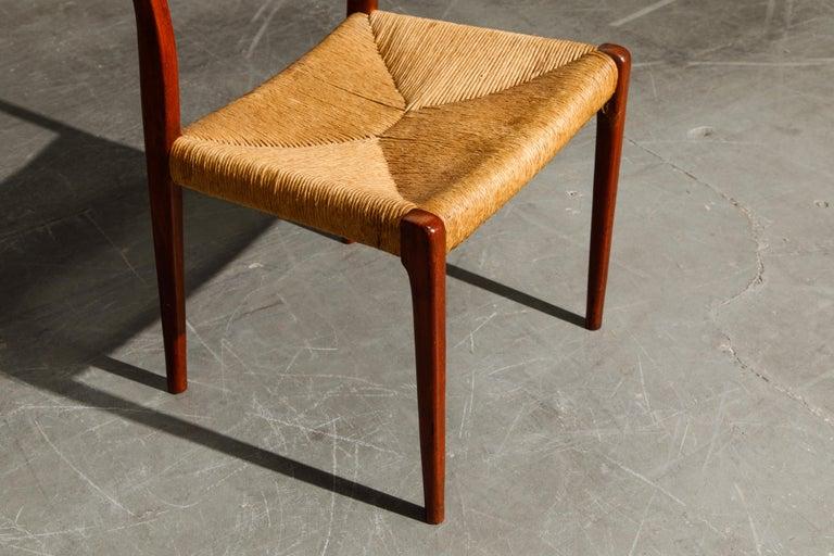'Model 71' Woven and Teak Side Chair by Niels Otto Møller for J.L. Møller, 1960s For Sale 8