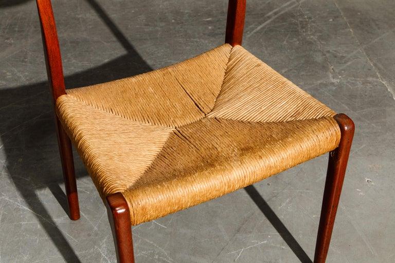 'Model 71' Woven and Teak Side Chair by Niels Otto Møller for J.L. Møller, 1960s For Sale 9
