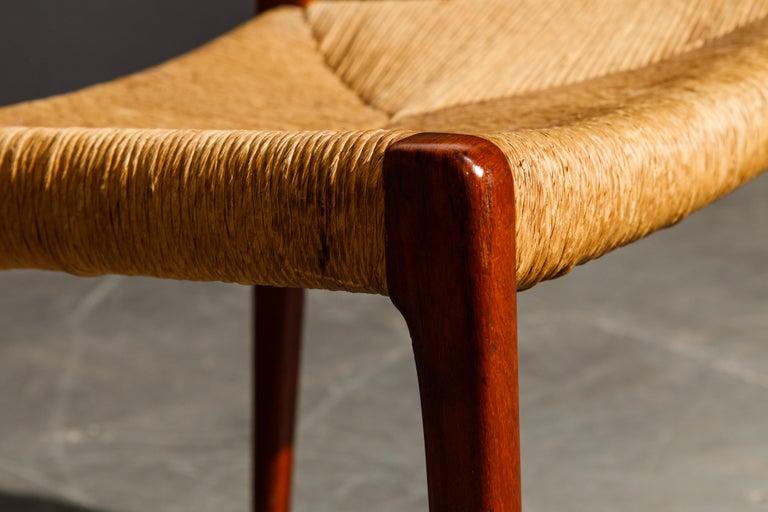 'Model 71' Woven and Teak Side Chair by Niels Otto Møller for J.L. Møller, 1960s For Sale 10