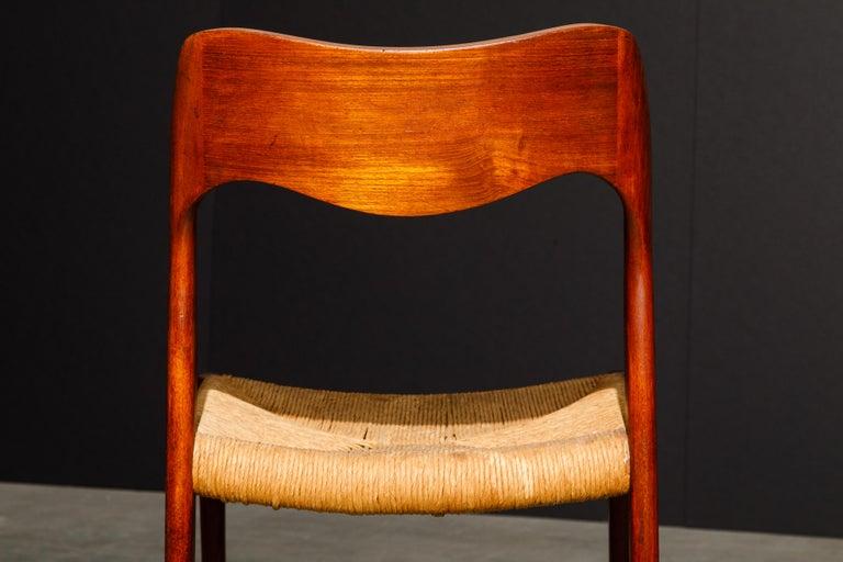 'Model 71' Woven and Teak Side Chair by Niels Otto Møller for J.L. Møller, 1960s For Sale 12