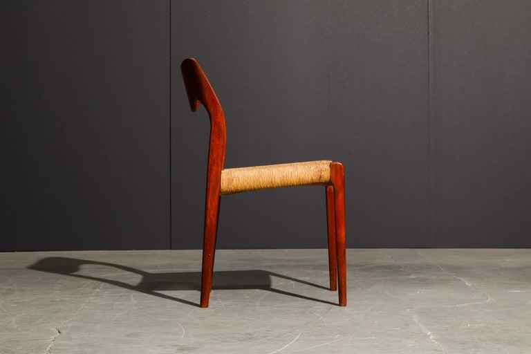 Mid-20th Century 'Model 71' Woven and Teak Side Chair by Niels Otto Møller for J.L. Møller, 1960s For Sale