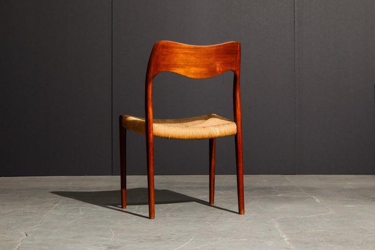 'Model 71' Woven and Teak Side Chair by Niels Otto Møller for J.L. Møller, 1960s For Sale 2