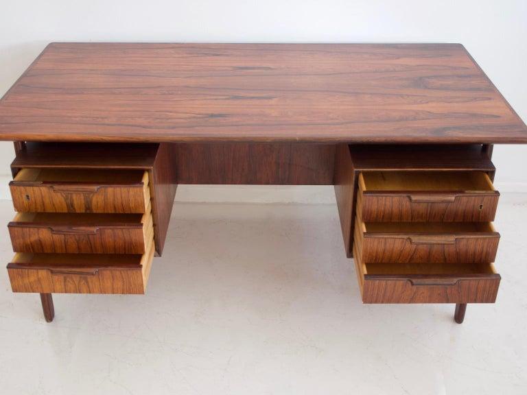Scandinavian Modern Model 75 Writing Desk by Omann Jun Mobelfabrik For Sale