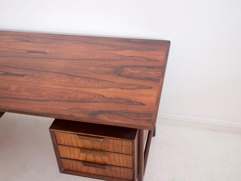 Hardwood Model 75 Writing Desk by Omann Jun Mobelfabrik For Sale