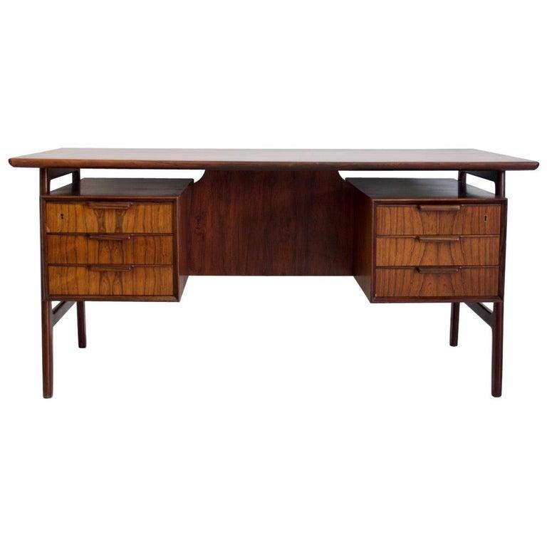 Model 75 Writing Desk by Omann Jun Mobelfabrik For Sale