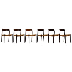 Model 77 Chairs by Niels Møller for J.L. Møllers, Set of 6