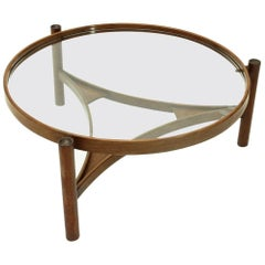 Model 775 Round Top Coffee Table by Gianfranco Frattini for Cassina, 1960s
