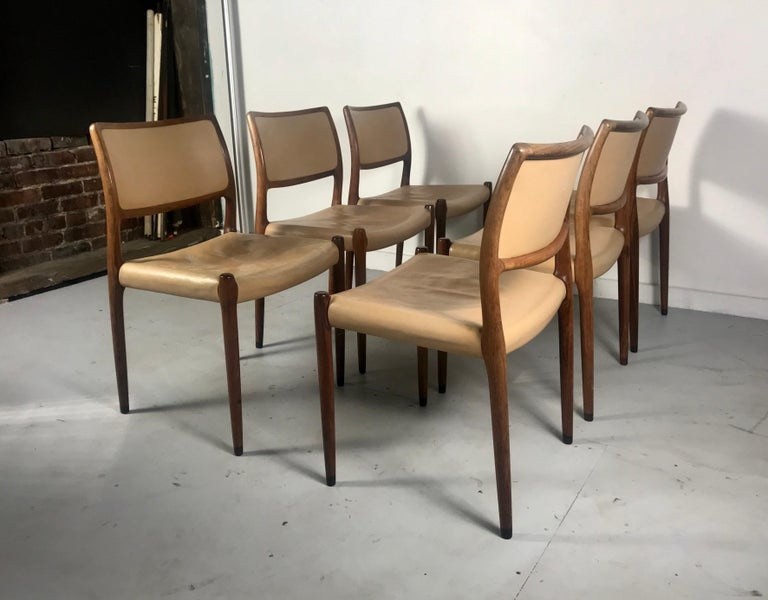 Danish Model 80 Chairs by Niels Otto Møller for J.L.Møllers Mobelfabrik, Denmark, 1950s For Sale
