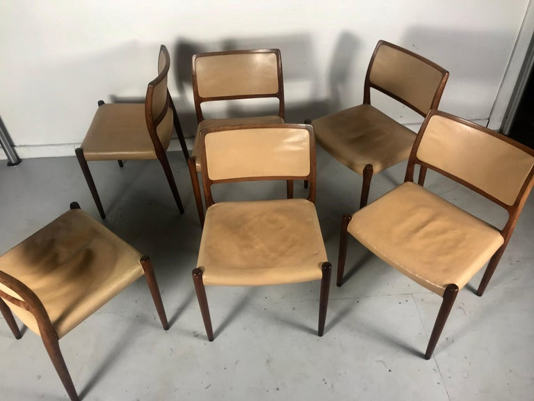 Model 80 Chairs by Niels Otto Møller for J.L.Møllers Mobelfabrik, Denmark, 1950s In Good Condition For Sale In Buffalo, NY