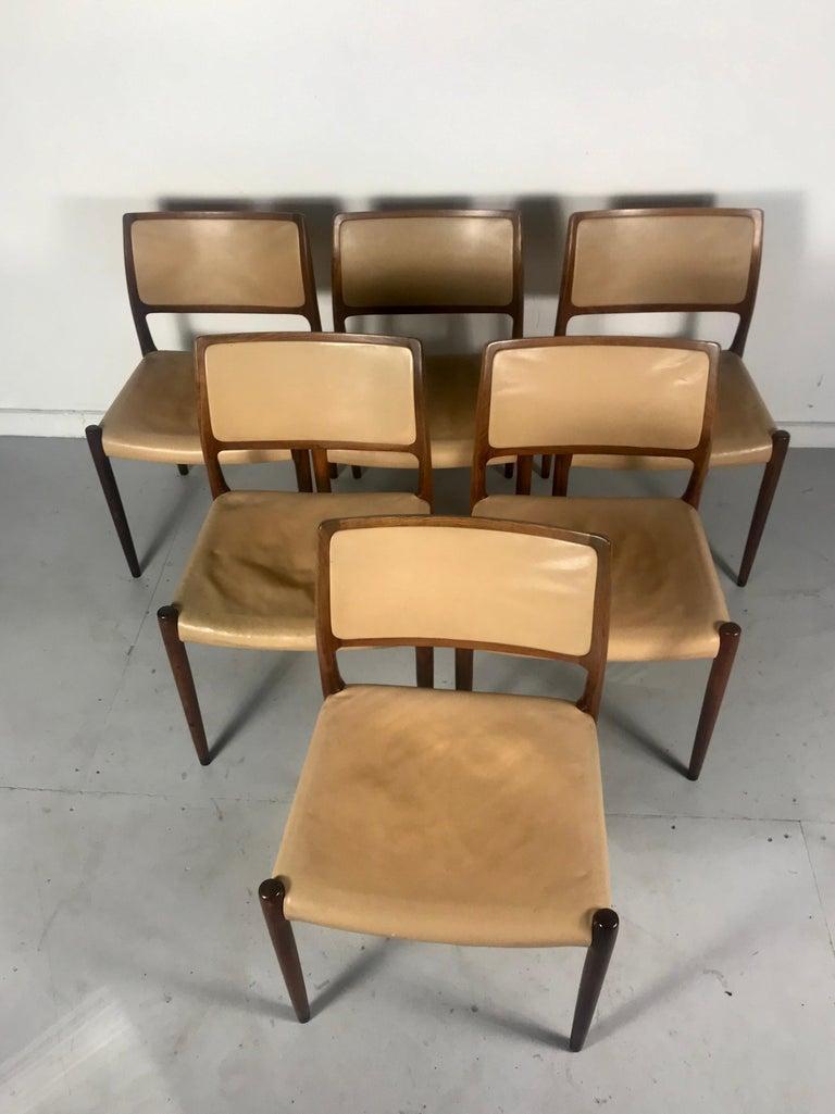 20th Century Model 80 Chairs by Niels Otto Møller for J.L.Møllers Mobelfabrik, Denmark, 1950s For Sale