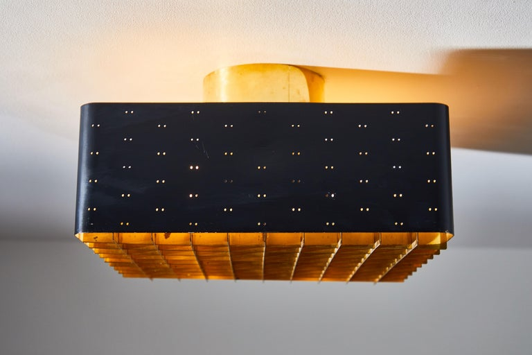 Finnish Model 9068 Starry Sky Flush Mount Ceiling Light by Paavo Tynell for Taito Oy For Sale