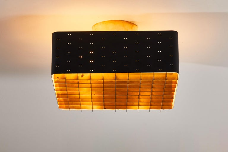 Model 9068 Starry Sky Flush Mount Ceiling Light by Paavo Tynell for Taito Oy In Good Condition For Sale In Los Angeles, CA