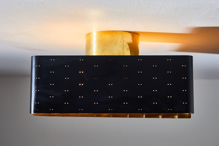Model 9068 Starry Sky Flush Mount Ceiling Light by Paavo Tynell for Taito Oy For Sale 1