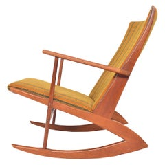 Model 97 Danish Modern Midcentury Teak Rocking Chair by Holger Georg Jensen
