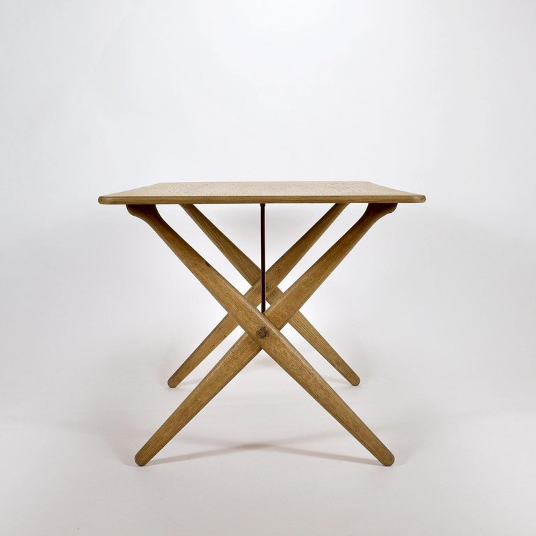 Danish Model AT308 Oak Side Table by Hans Wegner for Andreas Tuck, Denmark, 1950s For Sale