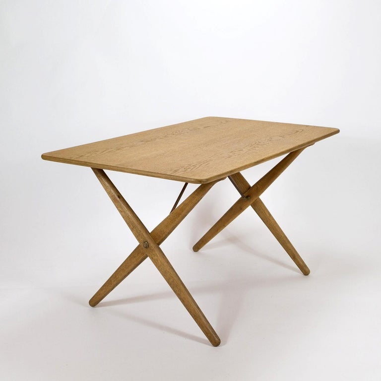 Mid-20th Century Model AT308 Oak Side Table by Hans Wegner for Andreas Tuck, Denmark, 1950s For Sale