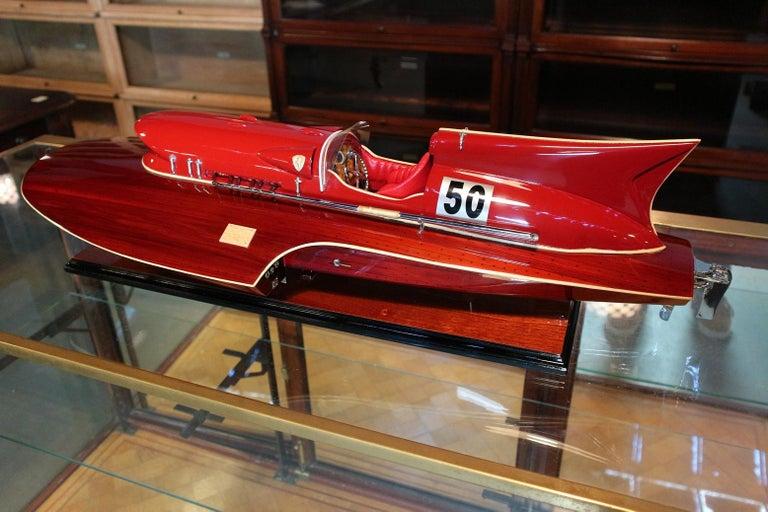Contemporary Model Boat Ferrari Hydroplane For Sale